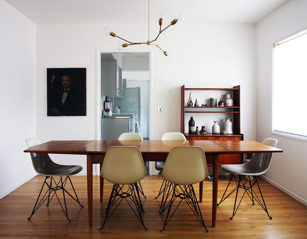 Brick house for Dining room ideas eames