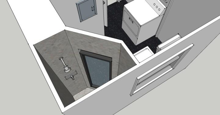 Brick house for Sketchup bathroom sink
