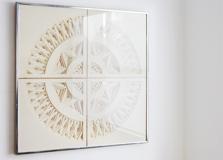 Wall Decoration By Paper Cutting : Brick house